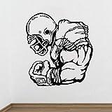 Joueur de football Affiche Wall Sticker Athlète Sport Jeu Rugby Vinyle Autocollants Stickers Décor À La Maison Chambre Salon Muraux 56x61 cm