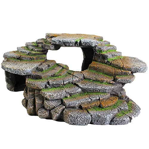 Penn-Plax Reptology Shale Step Ledge for Aquariums