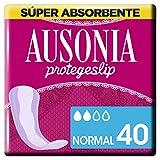 Ausonia Normal Protegeslips 40 Unidades, Sistema No Olor, Máxima Protección Diaria