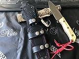 Nieto - 120-BOJ. Cuchillo Miguel Nieto Lucus Madera de boj. Herramienta para Caza, Pesca, Camping, Outdoor, Supervivencia y Bushcraft