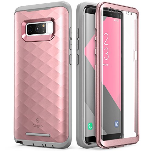 Galaxy Note 8 Case, Clayco [Hera Series] Full-Body Rugged Case with Built-in Screen Protector for Samsung Galaxy Note 8 (2017 Release) (Rosegold)