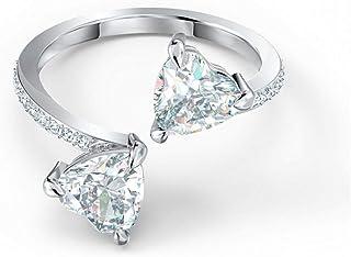 SWAROVSKI Women's Attract Soul Heart Ring, White, Rhodium plated