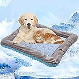 Kühlkissen für Haustiere,Volwco Selbstkühlende Matte, Kühlgel, Gel-Haustierbett für Hunde, Welpen, Katzen, Schlafen und reduziert Gelenkschmerzen, ideal für Zuhause und Reisen (31 'x 20')