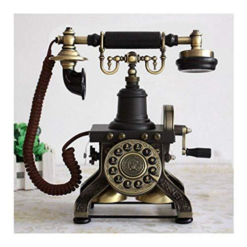 Pillowcase 123 Teléfono de línea Fija de Bronce Antiguo con Cable, con...