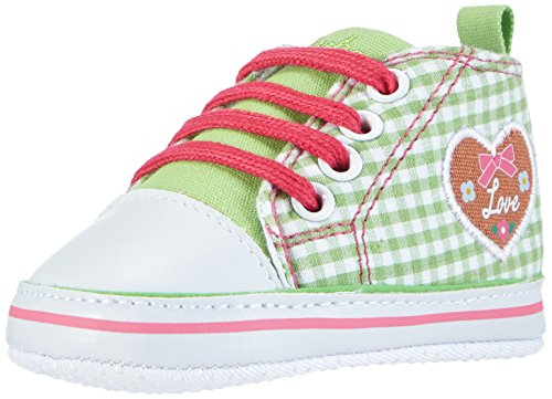Playshoes Baby Canvas-Turnschuhe, trendiger Stoff-Sneaker mit rutschhemmenden Noppen, mit Landhaus-Motiv