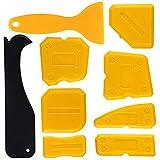 Kuuqa 9 Pieces Lisseur Joint Silicone de Lissage Outil de Calfeutrage Coulis Outils de Finition pour Salle de Bain