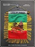 PRK 14 Rasta Style Design Clothing Rastafarian Accessories for Cars Homes Backpacks Design Hanging Rearview Mirror Style Accessory Lion of Judah Kings of Kings Haile Selassie for Cars Backpacks