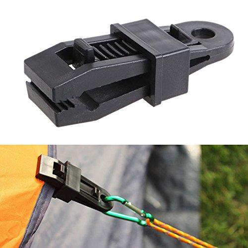 Lamf 12-teiliges Planen-Clips, strapazierfähige Markisen-Klammern-Set mit starkem Verriegelungsgriff, für Outdoor-Zelte, Baldachin, Sonnenschutz, Autoabdeckung, Poolabdeckung