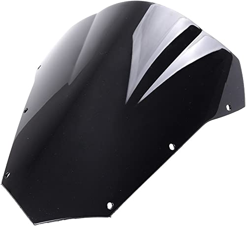 high quality Mallofusa discount new arrival Motorcycle Windscreen Windshield Compatible for Yamaha FZ6S 2003 2004 2005 2006 2007 2008 Black outlet online sale