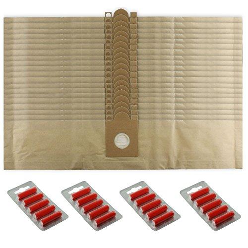 SPARES2GO Sterke Stofzakken voor Nilfisk Viking Series Stofzuiger (Pak van 5, 10, 15, 20 + Optionele Fresheners) 20 Bags + 20 Fresheners