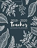Teacher Lesson Planner: Weekly and Monthly Calendar Agenda | Academic Year July 2019 through June 2020 | Includes Quotes & Holidays | Beautiful Colorful Winter Floral Cover (2019-2020)