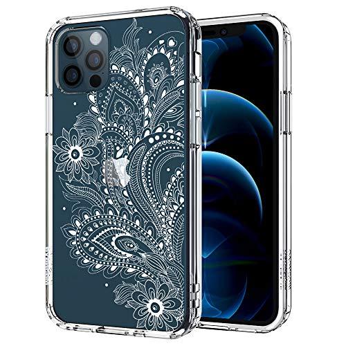 MOSNOVO iPhone 12 Pro Max Hülle, Paisley Floral Henna Mandala Muster TPU Bumper mit Hart Plastik Hülle Durchsichtig Schutzhülle Transparent für iPhone 12 Pro Max 6.7 Zoll