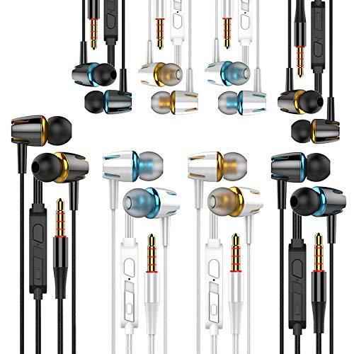 A9 Headphones Earphones Earbuds Earphones, Noise Islating, High Definition, Stereo for Samsung, iPhone,iPad, iPod and Mp3 Players (Mixed Color 8 Pairs)