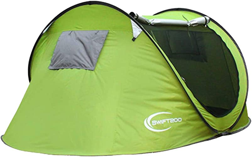 MISS&YG Tente de Plage Pop-up, UV-Proof Portable 3-4 Personnes Pliant Parasol Soleil auvent lumière Alpinisme Camping Plage auvent Cabine Sac à Dos Pop-up Tente
