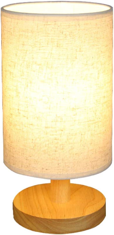 TDD High-End-Tischlampe, Nordische Minimalistischen Stil Massivholz Dekorative Tischlampe, Studentenwohnheim Nachttischlampe, Knopfschalter Tischlampe,Warmes Licht,Einheitsgre
