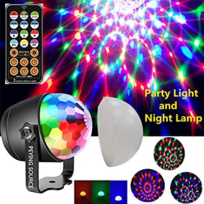 Disco Lights Party Ball Projector Stage Crystal Lamp 7 Modes Patterns with Remote for Holidays, Home Party,Bar,DJ,KTV,Birthday