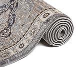 Läufer Teppich Flur in Grau - Orientalisch Klassischer Muster - Brücke Läuferteppich nach Maß - 80 cm Breit - AYLA Kollektion von Carpeto - 80 x 500 cm - 5
