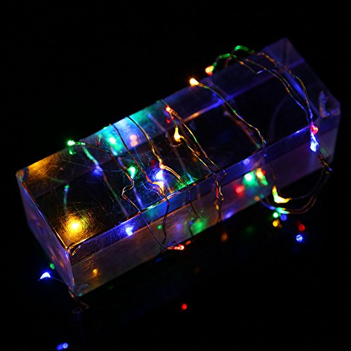 Printasaurus 3M 30LED Button Cell Powered Silver Copper Wire Mini Fairy String Lights MR Home & Garden LED Light