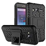Alcatel Pixi 4 (4') 3G Funda, FoneExpert® Heavy Duty silicona híbrida con soporte Cáscara de Cubierta Protectora de Doble Capa Funda Caso para Alcatel Pixi 4 (4') 3G