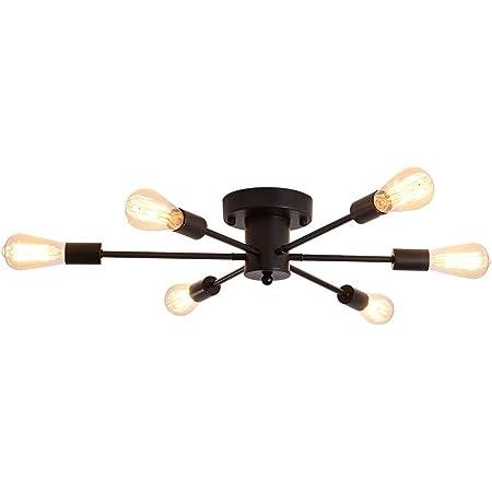 Globe Electric Vane 4 Matte Black Flush Mount Ceiling Light 66008
