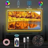 Opard LED Strip,TV LED Hintergrundbeleuchtung RGB 5050 2M LED Streifen Für 40 bis 60 HDTV USB LED TV Beleuchtung mit 17keys Remote