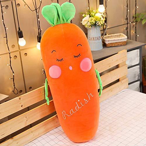 plkm Juguetes De Peluche Creativos, Almohadas De Vegetales Entrecerrados 50cm/Zanahorias