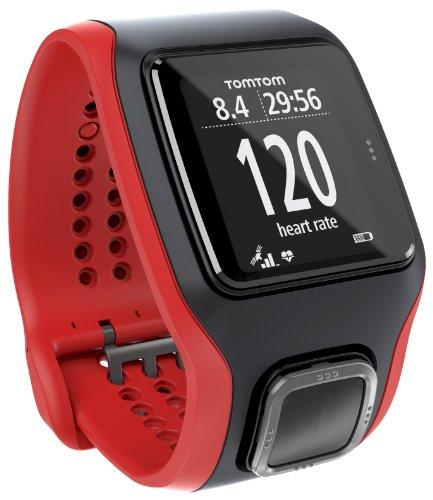 TomTom Multi-Sport Cardio GPS de Mano, Hombres, Negro y Rojo, M