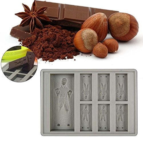 Creative Star Wars - Molde para cubitos de hielo con forma de chocolate Han Solo