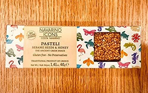 Navarino Icons Pasteli bar - Sesame Seeds & Honey, 40g (Pack Of 24)