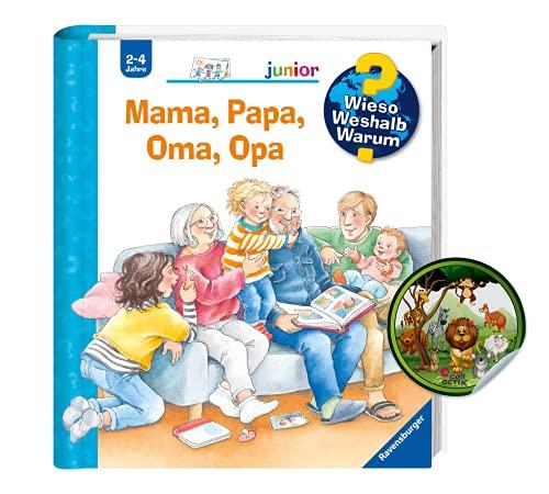Buchspielbox Waarom zou je een junior: mama, papa, oma, opa (band 39) + kindersticker   openklapen-kinderboek vanaf 2 jaar