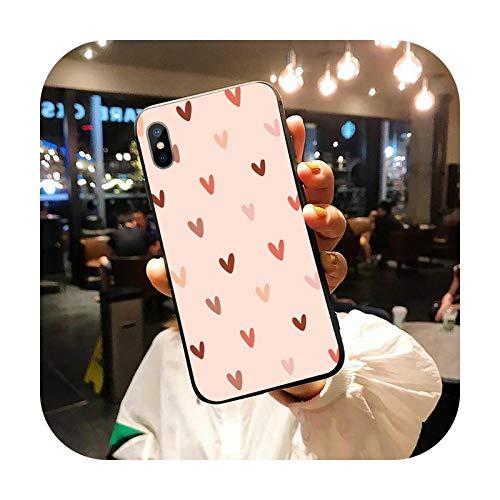 Lindo amor corazón teléfono caso para iPhone 11 12 pro XS MAX 8 7 6 6S Plus X 5S SE 2020 XR-a10-iiPhone5 SE 5S