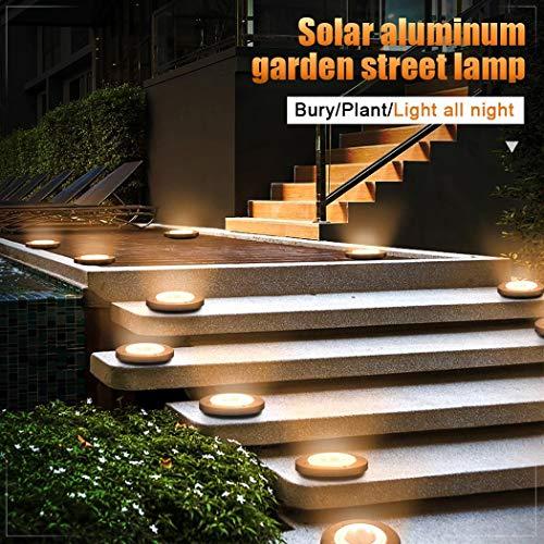 Sioneit Outdoor Solar 8-LEDs Untergrundleuchten Rasen Gartenleuchten Terrassen-Beleuchtung