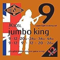 Rotosound ロトサウンド アコースティックギター弦 12弦 Phosphor Bronze/Super Light (.009-.046) JK30SL