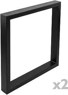 PrimeMatik - Pies rectangulares para Mesa Patas en Acero