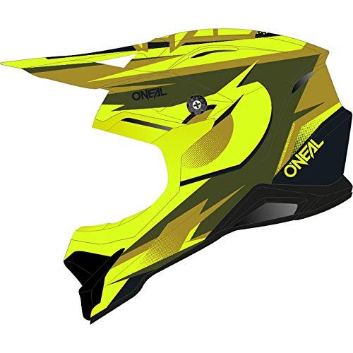 O\'NEAL 3 Series Riff 2.0 Motocross Enduro MTB Helm gelb/grÃŒn 2020 Oneal: Größe: M (57-58cm)