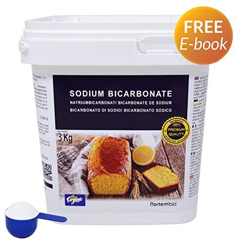NortemBio Bicarbonato de Sodio Ecológico 3 Kg. Grado Alimentario. Especial para Cocinar Producto CE.