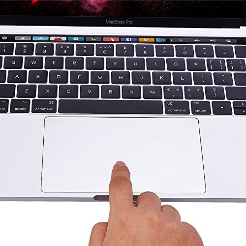 Se7enline MacBook Pro Touch Bar/Track Pad Protector Smooth Surface for MacBook Pro 13 inch 2016 2017 2018 Model A1706/A1989/A2159,Clear/Transparent