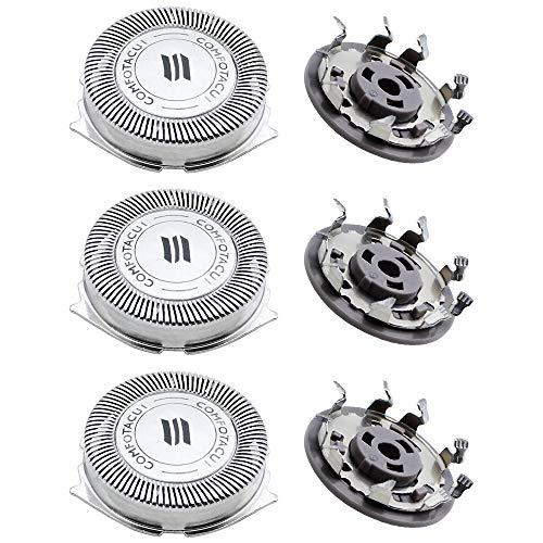 NewZC 3 pièces SH50 Tête de Rasoir Lames de Rechange pour Rasoir Philips Series 5000/500