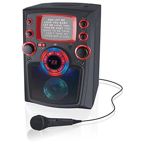 iLive Bluetooth Karaoke Party Machine with CD+G Player, 5 Inch Monitor and Microphone (iJMB485B)