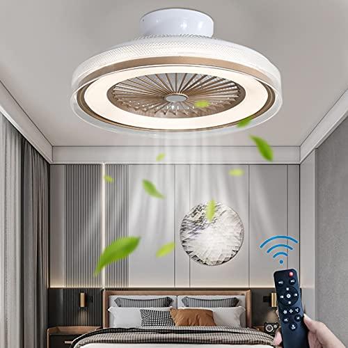 Fan Lámpara de Techo LED Redondo Luz de Techo Con Ventilador Regulable 36W Control Remoto Silencio Ventilador deTecho Con Iluminación 3 Velocidades del Viento Timer Cuarto Sala de Estar Comedor