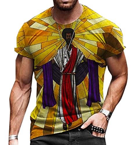 Mannen T-shirt afdrukken ronde hals korte mouw Pullover