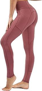 Women's Premium Yoga Pants with Pockets, Non See-Through Tummy Control 4 Way Stretch High Waist Leggings