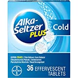 Alka-Seltzer Plus Cold Medicine, Sparkling Original Effervescent Tablets for Adults with Pain Reliever/Fever Reducer, Sparkling Original, 36 Count