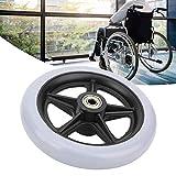 Ruedas delantera de silla de ruedas, 6 pulgadas Ruedas de goma antideslizantes para discapacitados, Carga máxima 120 kg, 608ZZ Rodamiento, Ruedas de vehículos sanitarios