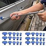 Junhouse Lot de 30 outils de réparation pour débosselage de carrosserie sans peinture 1 couleur