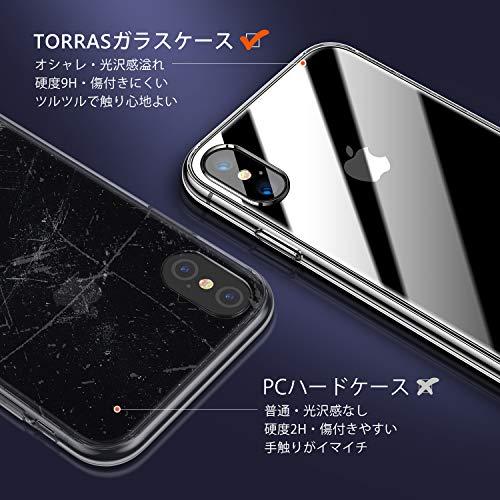 TORRASiPhoneXs用ケースiPhoneX用ケース強化ガラス9H背面TPUバンパー2021年新型薄型透明日本旭硝子製黄変防止ストラップホール付きネイキッドアイフォンX用Xs用カバークリア