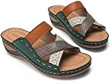 FGDFGDG Sandalias de Talón Abierto Mujer,Color a Juego con Sandalias de Damas, Pendiente de Gran tamaño con Zapatillas para Mujer Flip-Flops,a,41