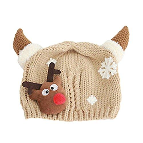 Vococal® Gorros de Invierno,Sombrero Gorros de Punto Navidad Santa Al