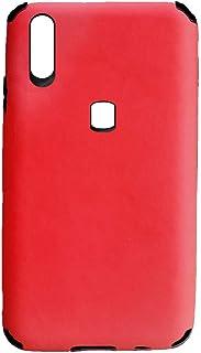 لهاتف انفينكس سمارت 4 x653 جراب خلفي سيلكون جلد - احمر