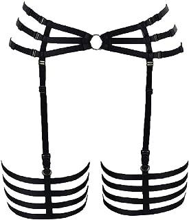 BODY CAGE Women's Leg Garters for Stockings Harness Suspenders Belt